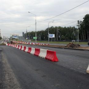 Перекрыт поворот с Рублевского шоссе на Осеннюю улицу