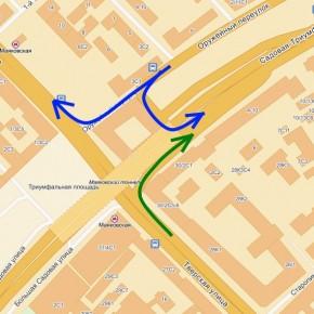 Изменяется схема движения на Тверской улице и Оружейном переулке