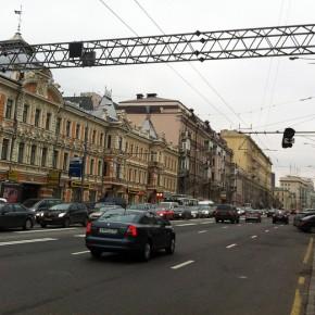 Реверсивная полоса на участке проспекта Мира от Садового до Третьего кольца