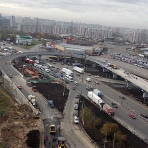 Открыта разворотная эстакада на Варшавском шоссе