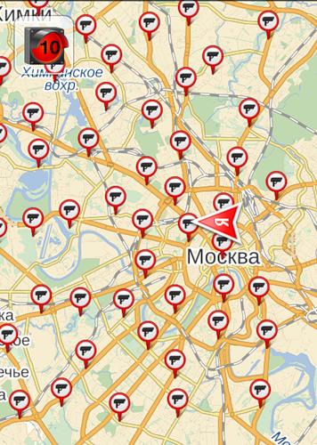Комплексы видеофиксации нарушений ПДД в Москве растут как грибы. Иллюстрация Roads.Ru, основа - Яндекс.Карты.