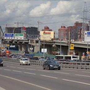 Открыты новые эстакады на развязке Ленинградского шоссе и МКАД