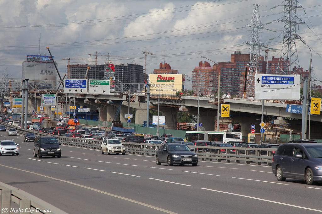Схема развязки Ленинградского шоссе и МКАД.