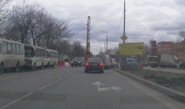 Перекрыт участок Зеленоградской улицы в связи со строительством Северо-Восточной хорды. Фото: 2013, forum.roads.ru