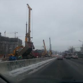 Начато строительство новой эстакады на Варшавском шоссе