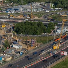 Начато сооружение опор эстакад на развязке МКАД с Каширским шоссе