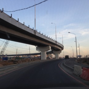 Открыта новая левоповоротная эстакада на пересечении Дмитровского шоссе и МКАД