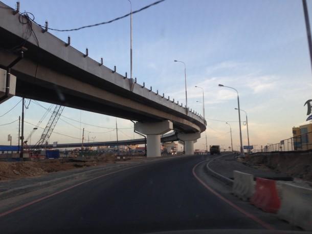 МКАД, 82-й километр - развязка МКАД и Дмитровского шоссе. Фото: ROADS.RU