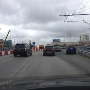 Реконструкция путепровода на Ленинградском шоссе у м.Войковская началась