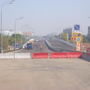 Открыто движение по новой эстакаде на Варшавском шоссе в районе станции метро «Улица Академика Янгеля»