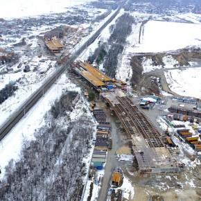 Фотосет: строительство путепровода на Носовихинском шоссе в районе д.Вишняково