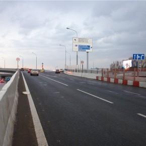 Развязка МКАД и Минского шоссе: открылась еще одна эстакада