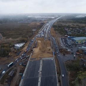 Реконструкция Ярославского шоссе — лучший фотосет октября