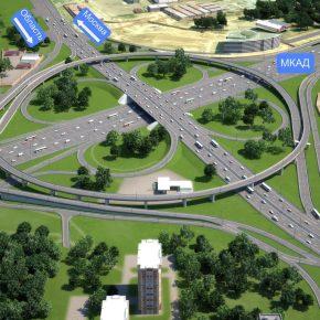 Открыто движение на развязке МКАД с Каширским шоссе