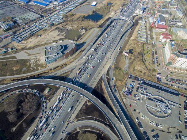 Развязка на пересечении Каширского шоссе и МКАД. Фото (с) 2016 ФОРУМ ROADS.RU