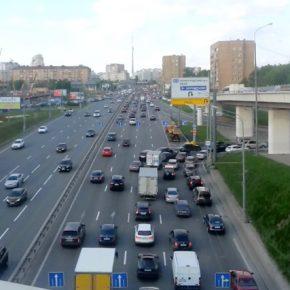 Эксперимент на съезде с Третьего кольца на Ленинградский проспект