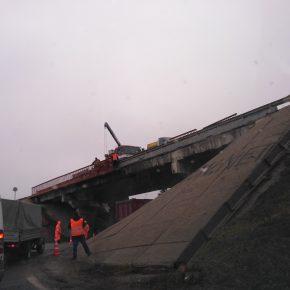 Ремонт путепровода над Минским шоссе в Кубинке
