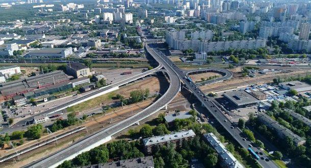 Северо-Зпадная хорда, эстакада Боженко-Толбухина. Фото mr. MyXiN, форум roads.ru