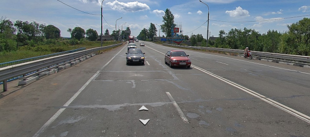 Ремонт моста у д.Головково на М-10. Фото Яндекс.