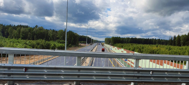 Участок трассы М-11 от Клина до Твери (97-149 км) достроен