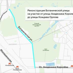 Реконструкция Ботанической улицы: проект одобрен