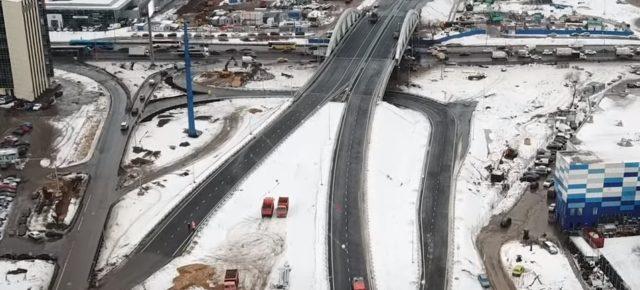 Открыта первая очередь Репинской развязки над Ленинградским шоссе в Химках